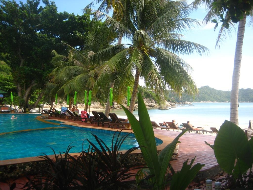 Thong Nai Pan Yai Beach, view  from the Dreamland Resort pool