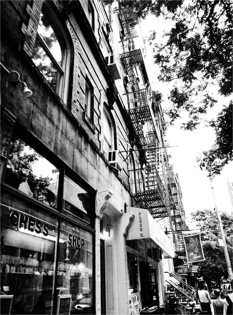 Building in Greenwich Village in black and white
