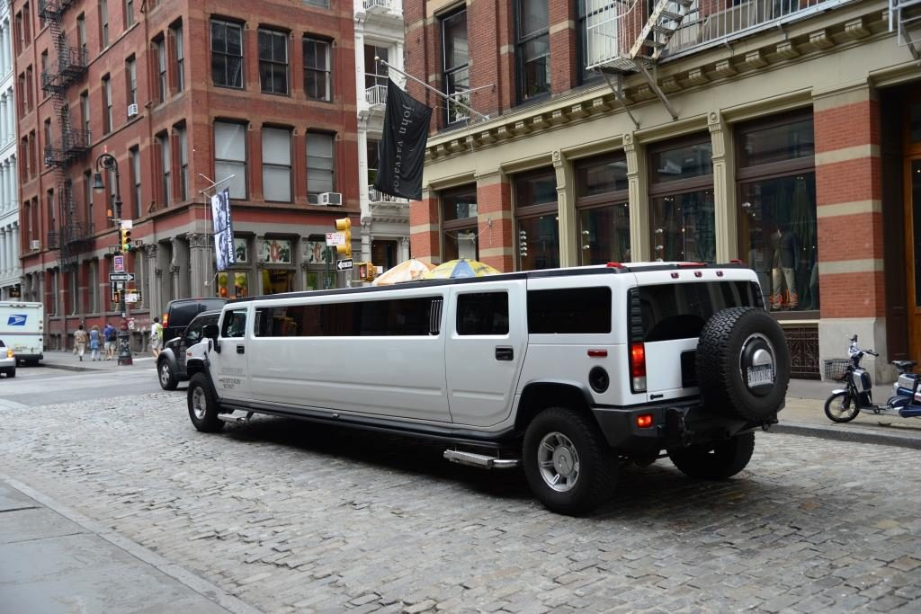 stretch Hummer in Greenwich Village