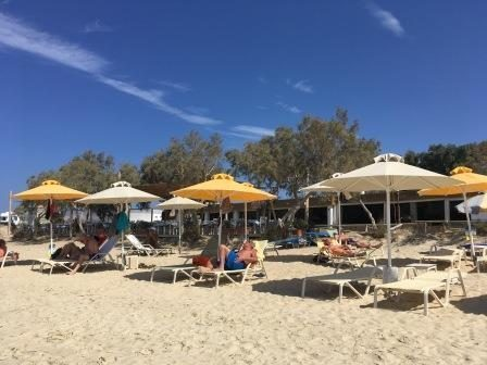 sunbeds at Maragas Beach