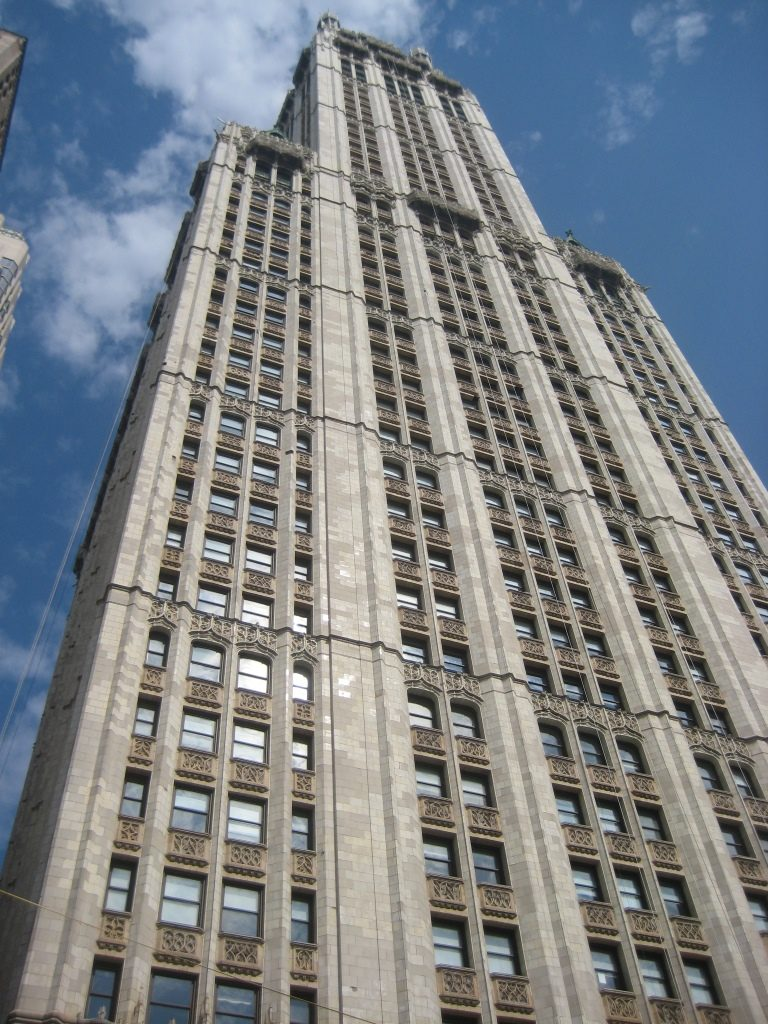 Rockefeller Center from below