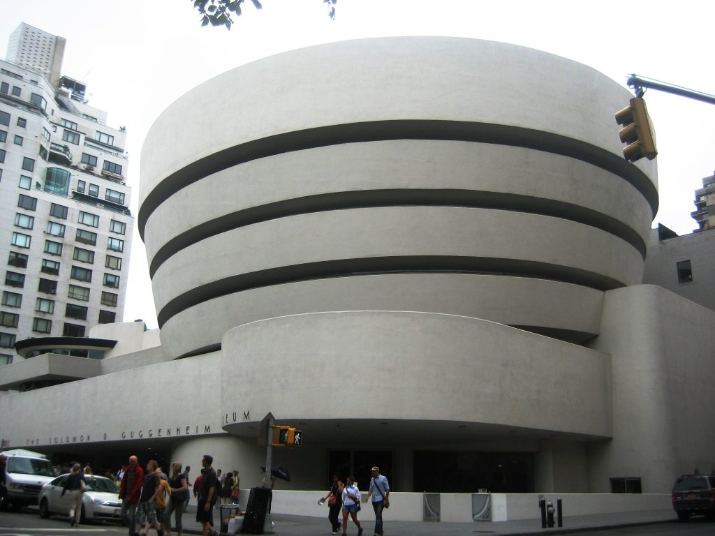 Building of the Guggenheim Museum New York