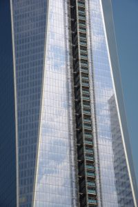 part of the facade of the new World Trade Center
