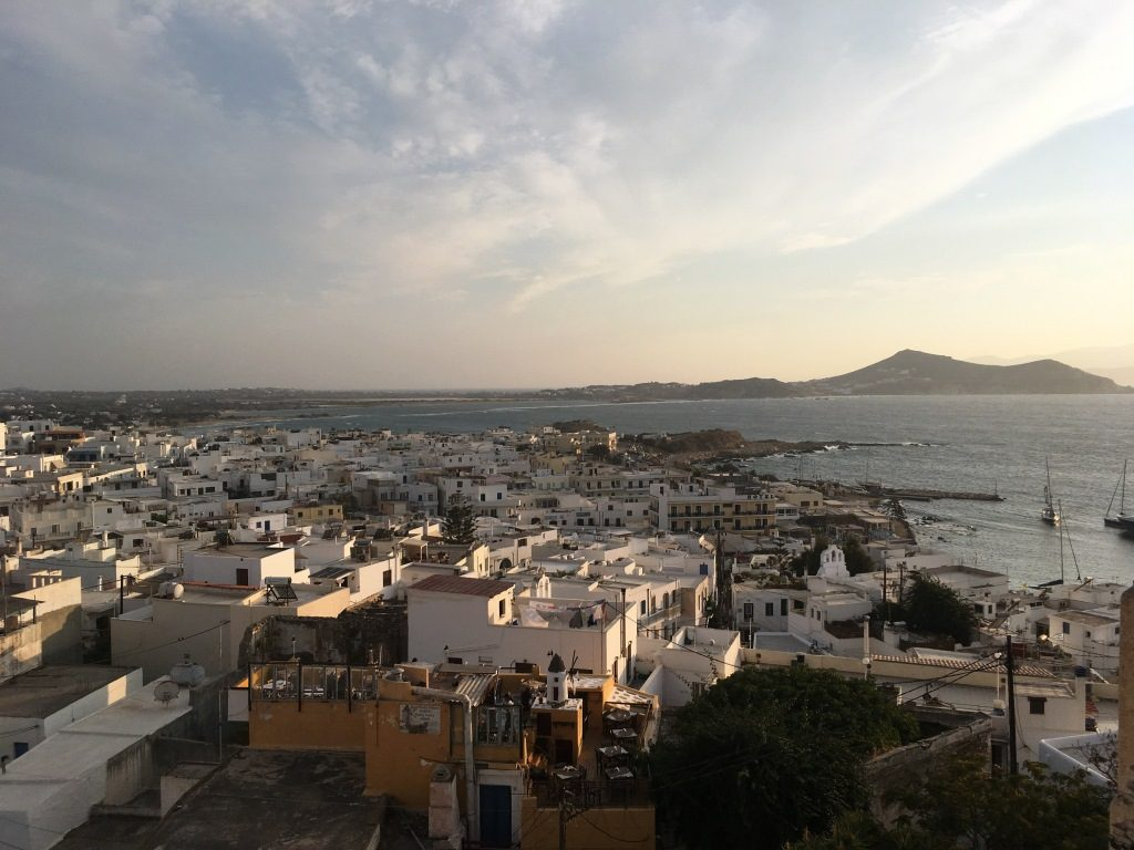 Naxos Town, from the 1739 Terrace Café