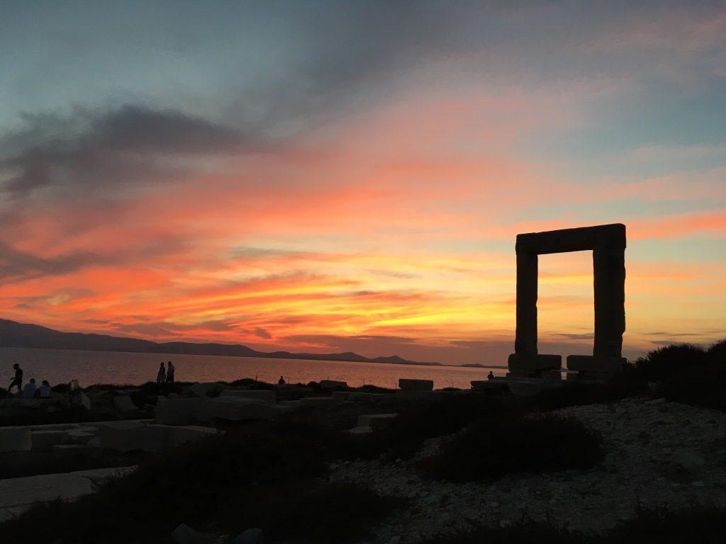 Portara at Naxos city harbour