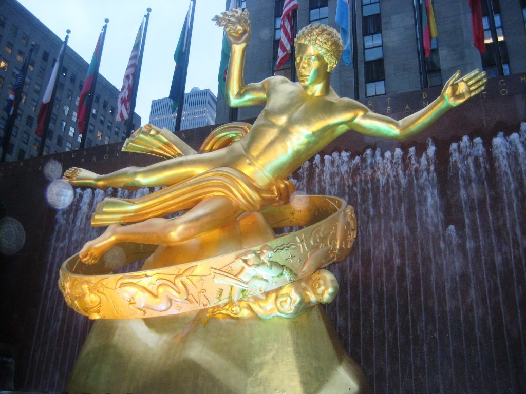 Statue in front of the Rockefeller Building