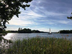 view of the lafe of Trakai from Trakai Island