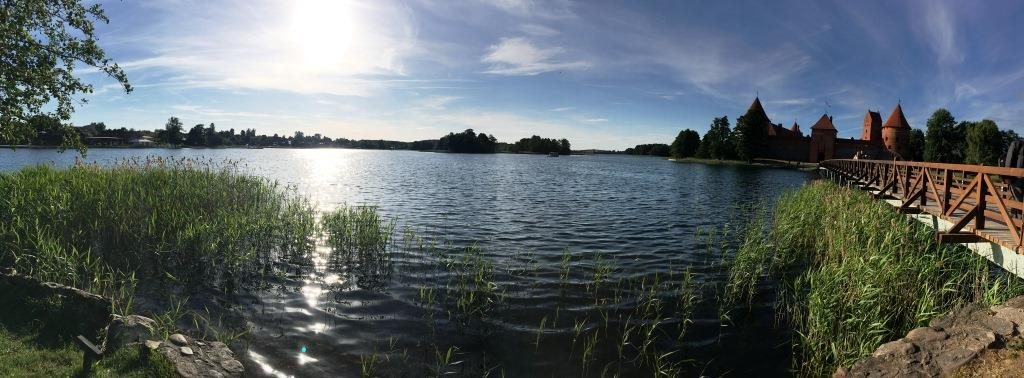 view of the Trakai Island Castle from the shore