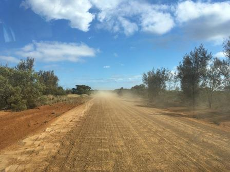 dirt road between Esperance and Perth