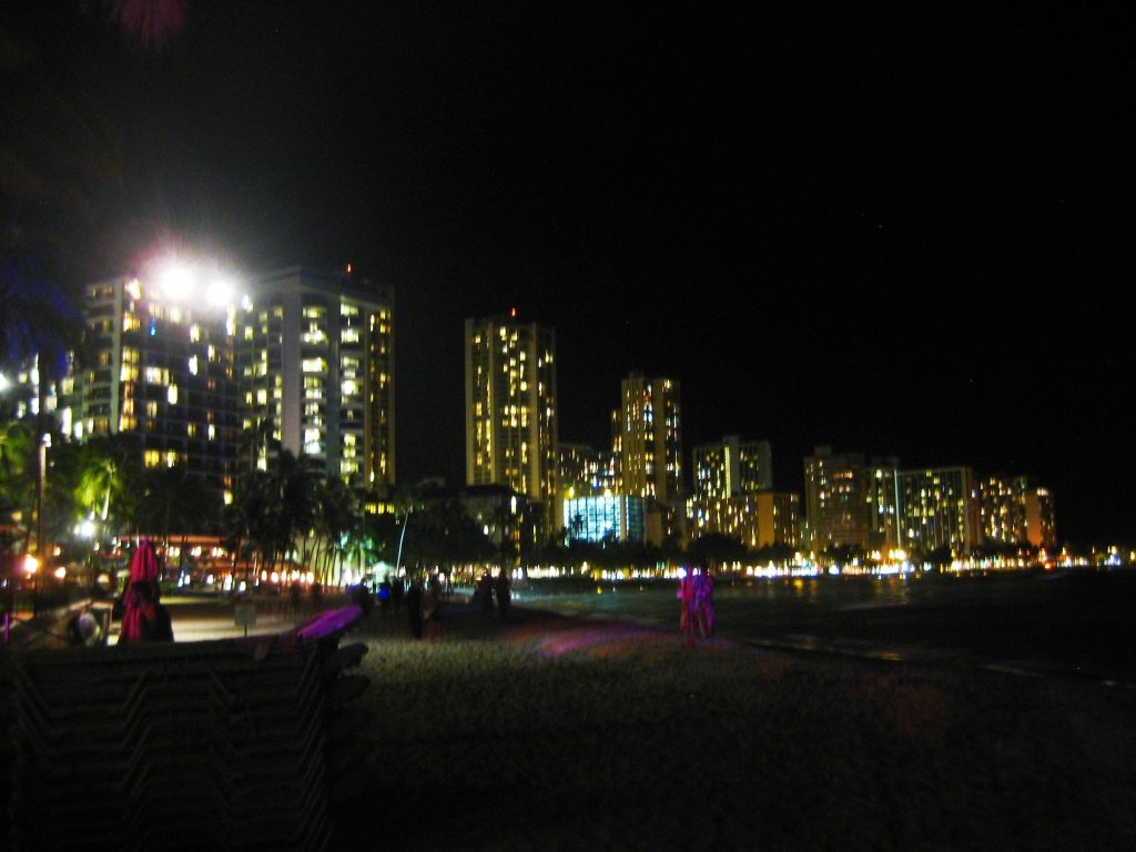 Waikiki Bech by night