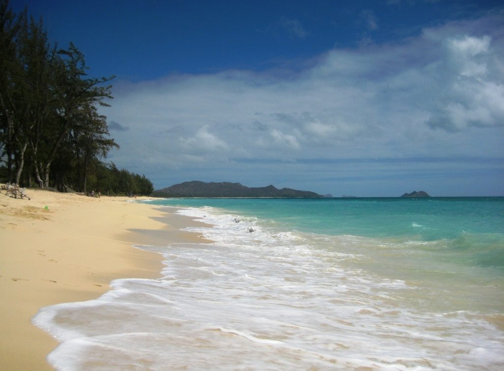 Waimanalo Beach, view to the left