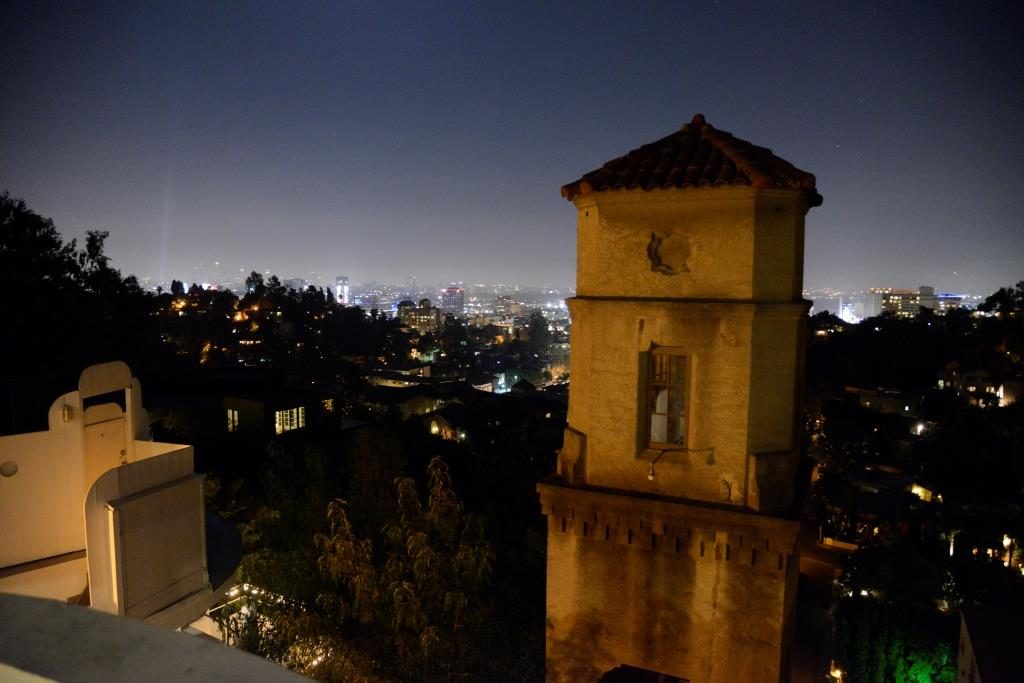 view of Downtown LA from Hightower terrace