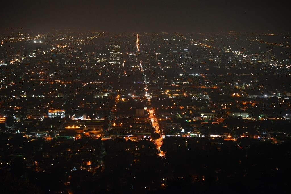 night view from Griffith Observatory