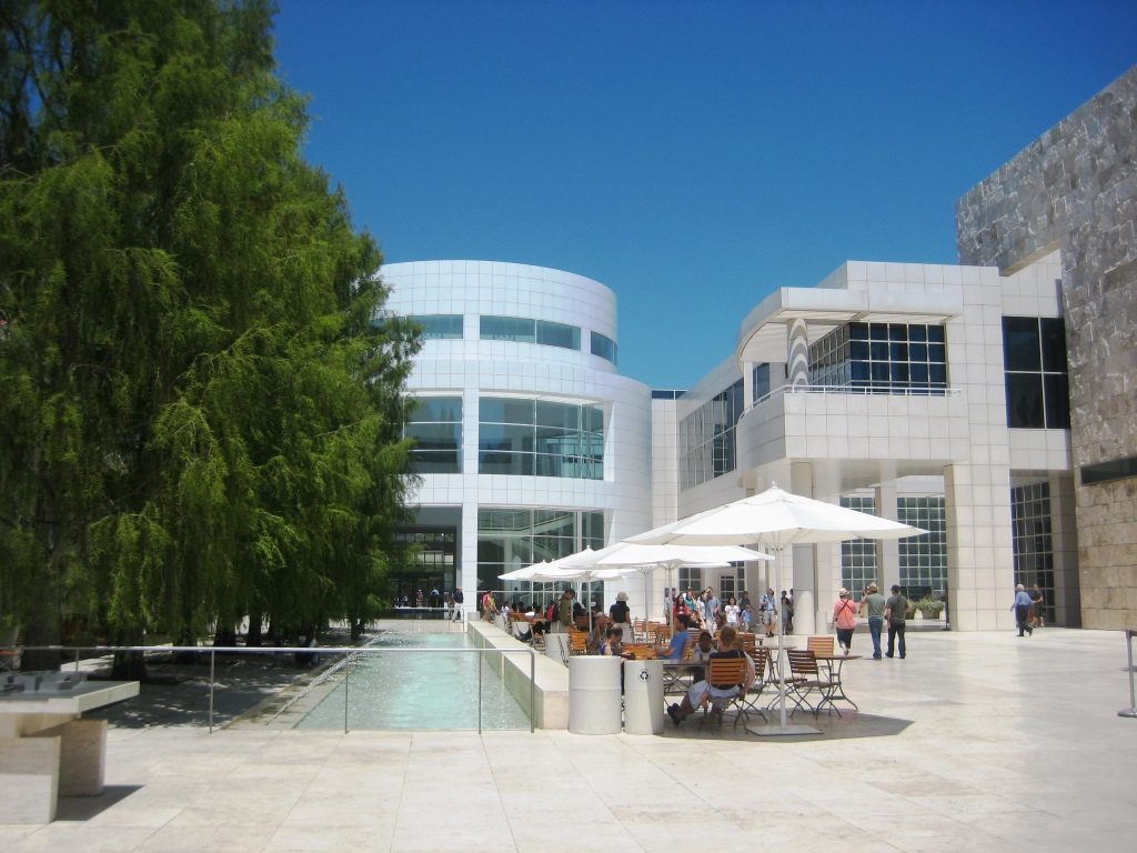 buildings and plaza of the Getty Museum