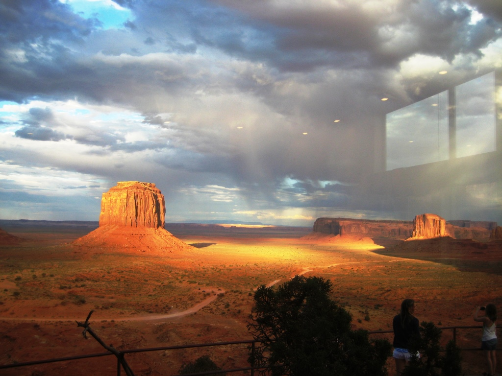 "Monument Valley, seen from ""The View"" Hotel restaurant"