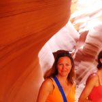 In the Antelope Canyon