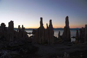 Tufa Shilouettes after sunset