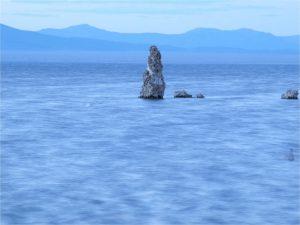 Mono Lake rocks and waves