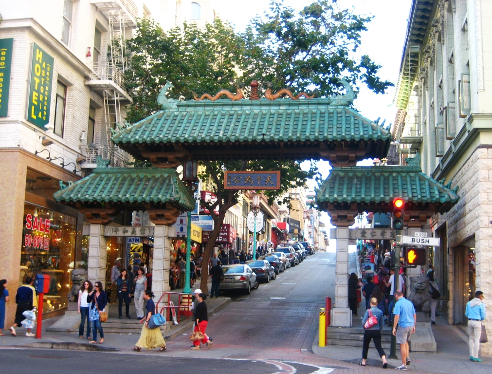 Gate entrance to San Francisco China Town