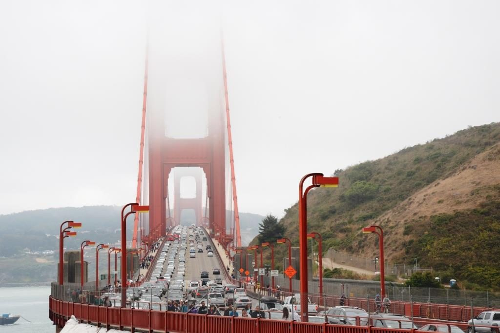 Golden Gate Bridge view from northern side