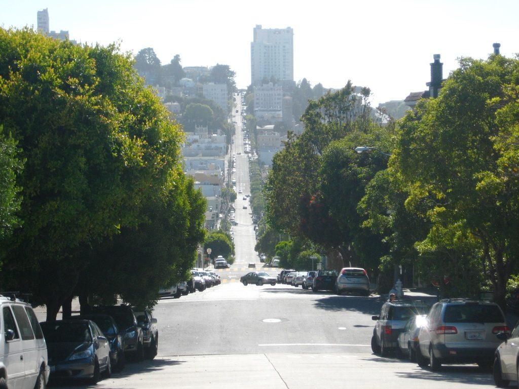 steep road in San Francisco