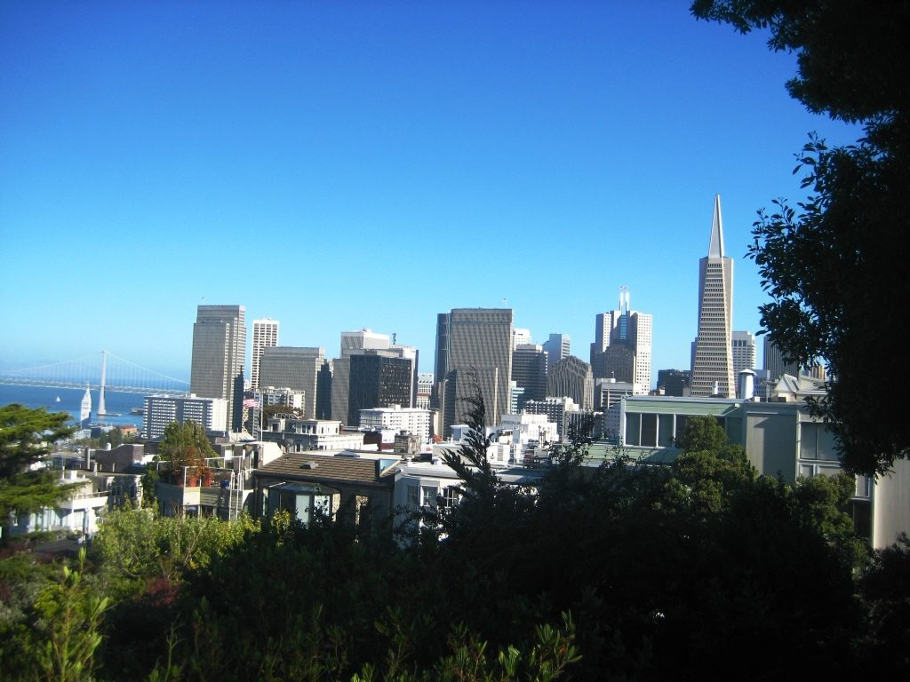 view of San Francisco Downtown from Russian Hill