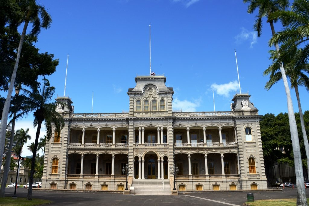 Iolani Palace, the royal residence of the Kamehameha Dynasty