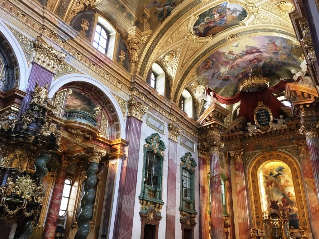 Walls and Ceiling of St. Peter's Church Vienna