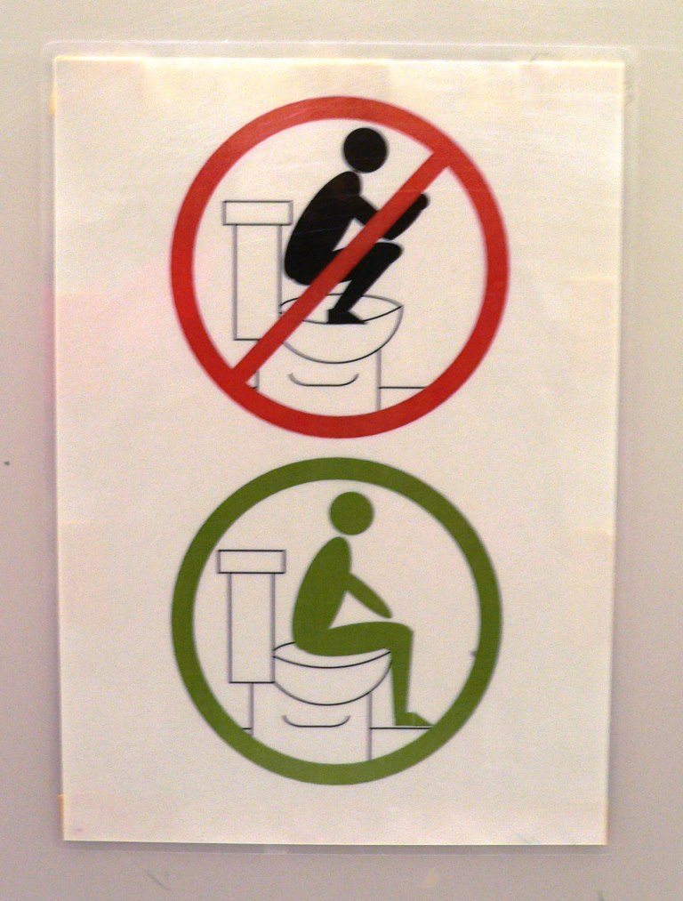 funny sign in toilet of the Tokyo Metropolitan Government Building