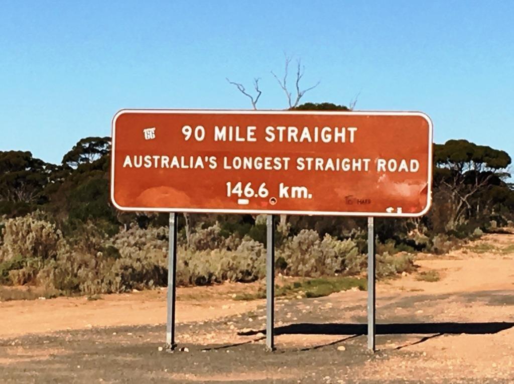ninety miles straight sign, Western Australia