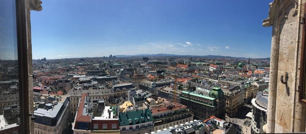 panorama from the Bell tower of St. Stephens Cathedral Vienna