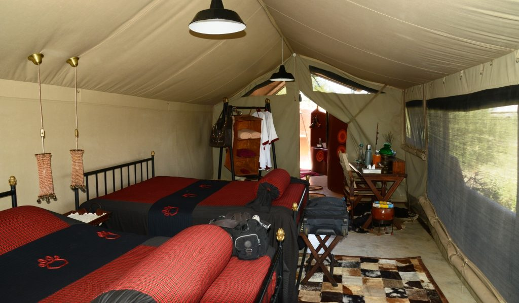 sleeping room of the tent