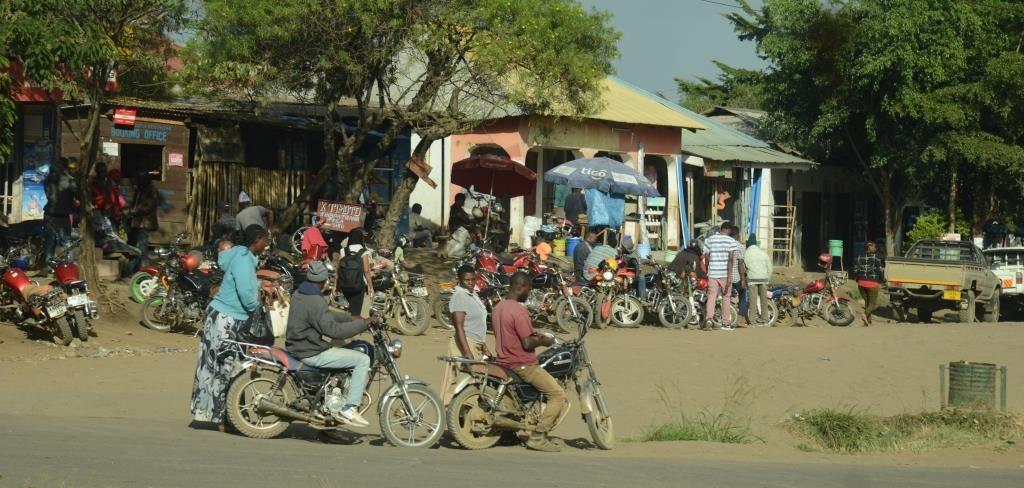 people on a street near Arusha