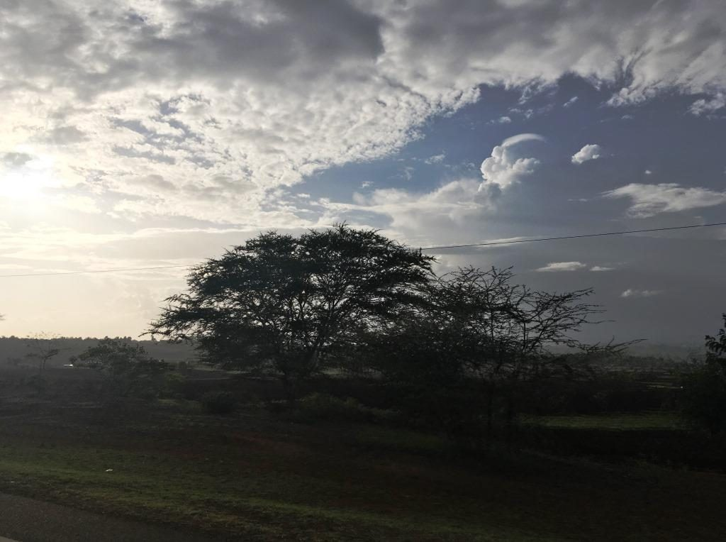 sunset in Karatu