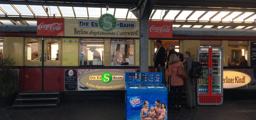 Currywurst stand Tegel airport