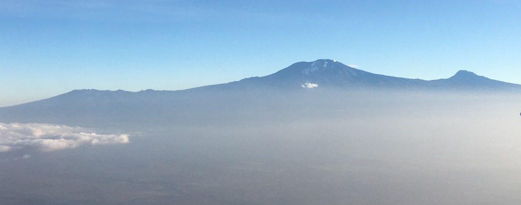 Kilimanjaro from airplane