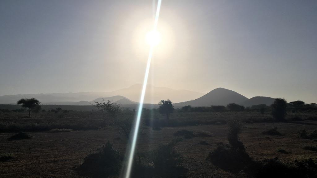 Kilimanjaro and rising sun