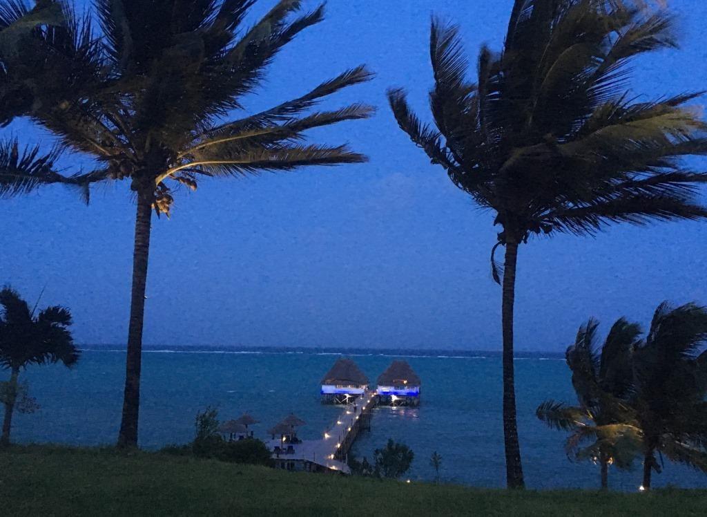 Melia Zanzibar jetty by night
