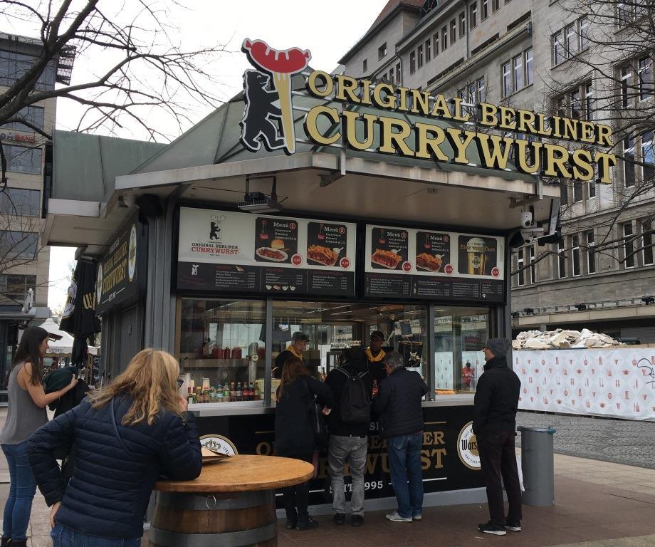 original Berliner Currywurst stand