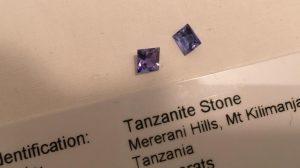 Tanzanite stones