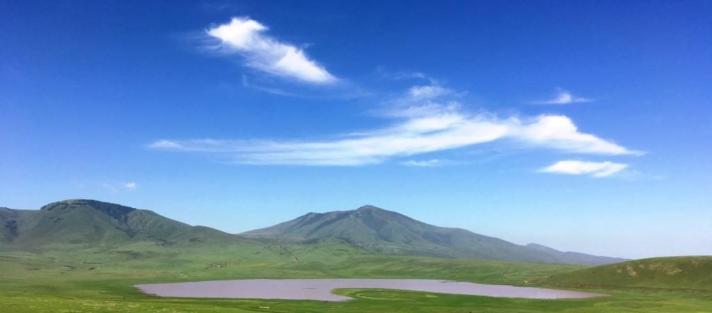 blue sky over Ngorongoro