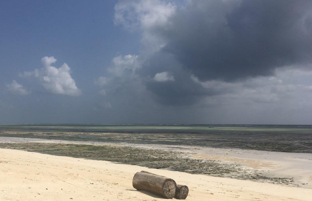 changing weather at Kiwengwa Beach