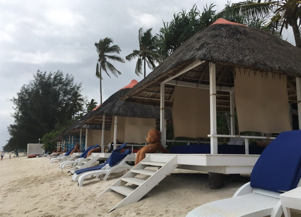 first class beach huts at Melia Zanzibar