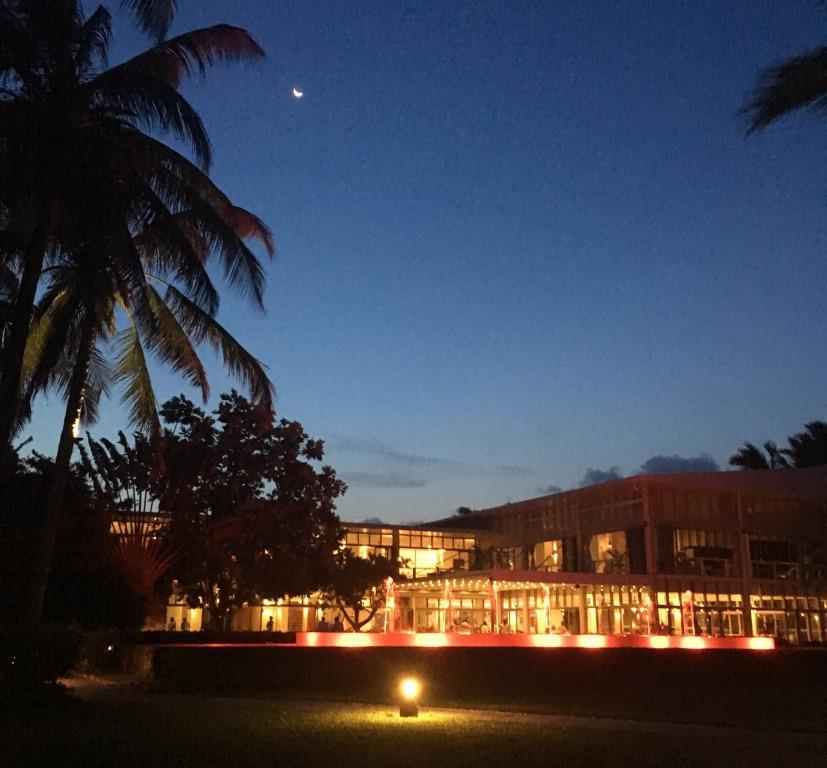 moon over Melia Zanzibar