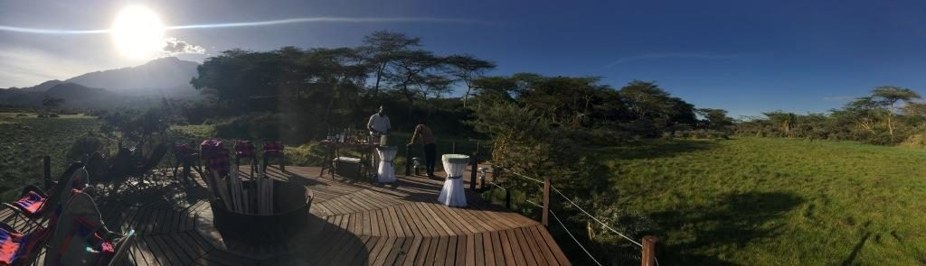 sundowner at Hatari Lodge