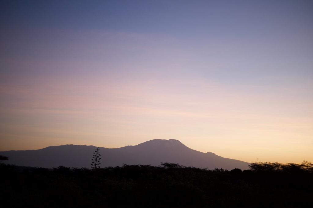 sunrise view of Kilimanjaro