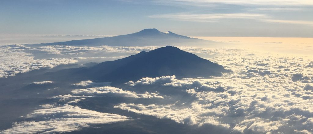 view of Kili and Mount Meru