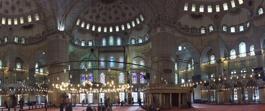 Blue Mosque Panorama inside