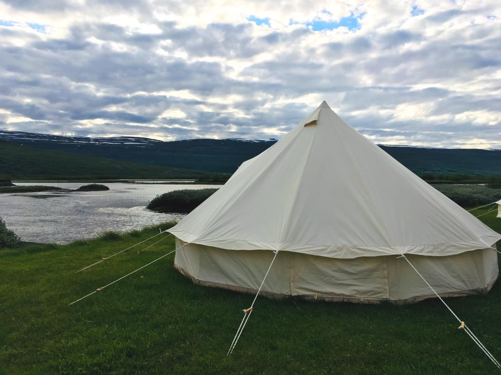 Glamping tent northern iceland