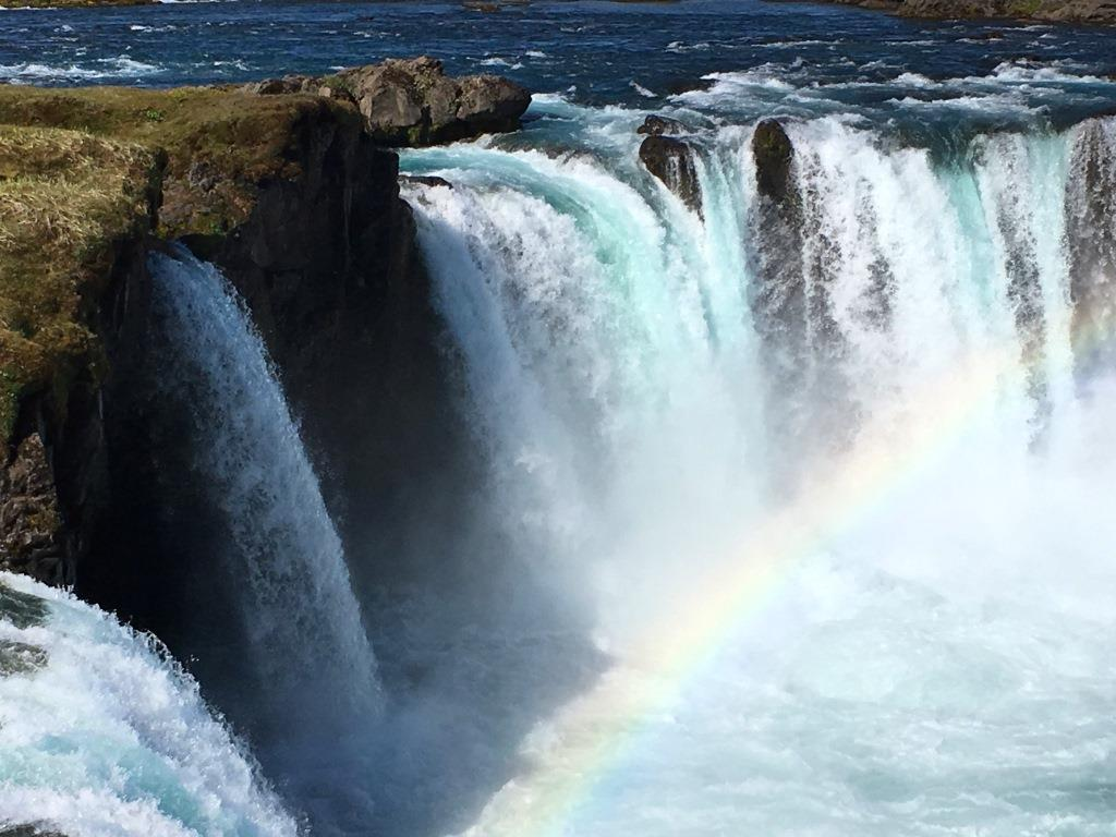 Godafoss with Rainbow